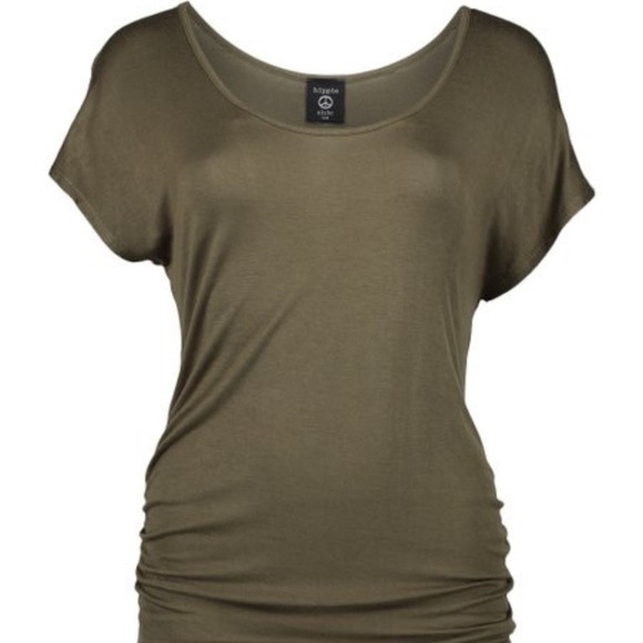 b697467d04f6f3 Hippie Chic Tops | Olive Sideruched Dolman Top | Poshmark